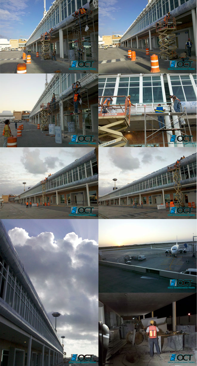 panel aluminio aeropuerto