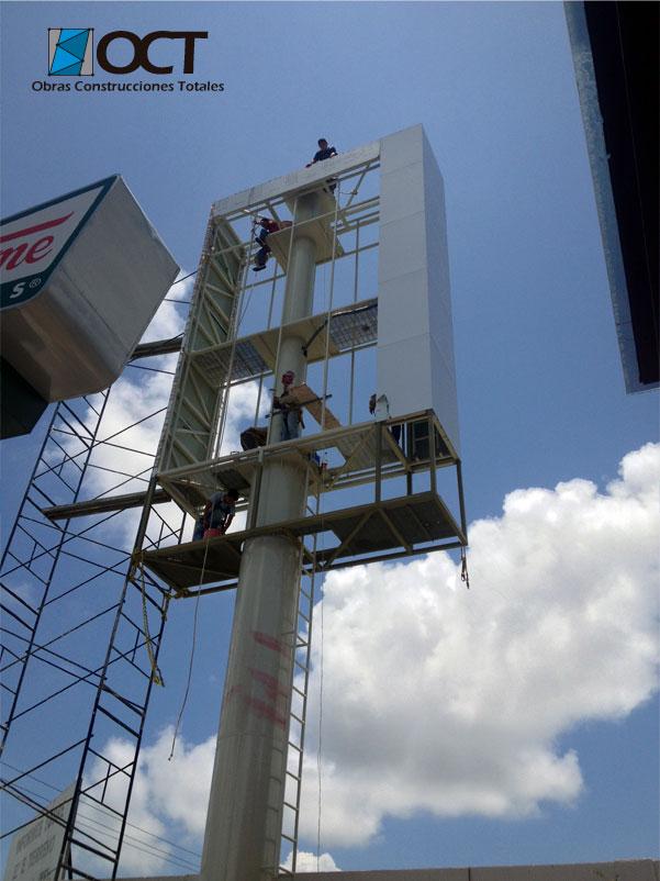 panel aluminio totem