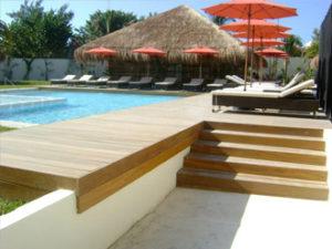 deck madera riviera maya